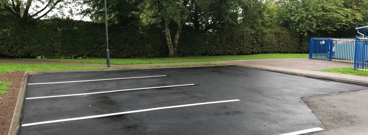 Car park construction in Staffordshire